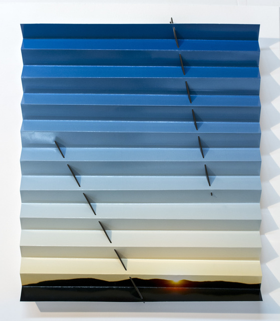 , 'Nevada Sunrise Sundial (Two Lines Blue),' 2015, GRIMM