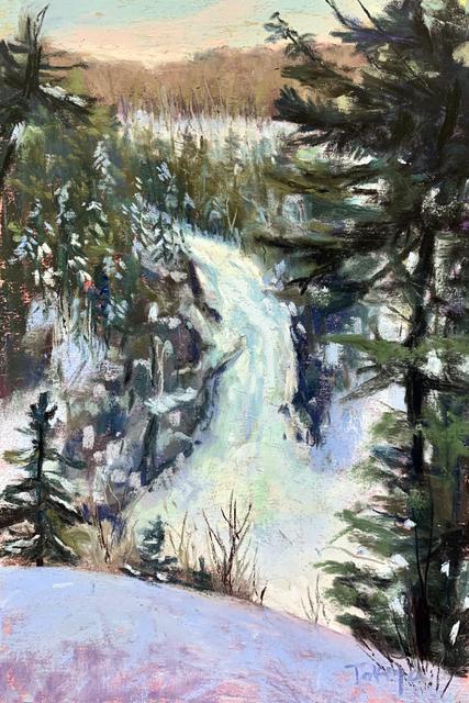 , 'Day 5: Frozen Falls,' February 2020, Keene Arts