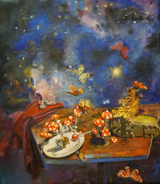 , 'Mushroom and Butterflies,' 2017, Diane Rosenstein