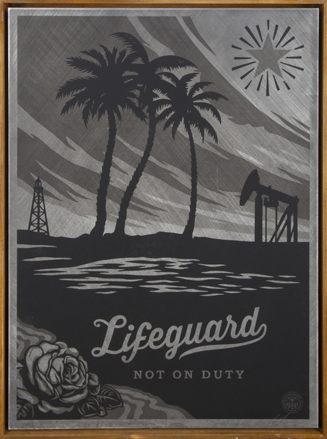 Shepard Fairey (OBEY), 'Lifeguard Not On Duty', 2014, Julien's Auctions
