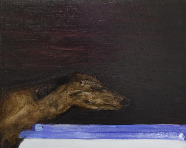 , 'Dog (blue line),' 2016, Galerie Bart