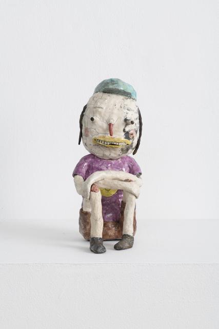 , 'White Raku Figure with Favorite Shirt,' 2018, Richard Heller Gallery