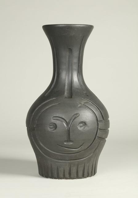 Pablo Picasso, 'Visage gravé noir (A.R. 210)', 1953, Other, Terre de faïence vase, painted black, Sotheby's
