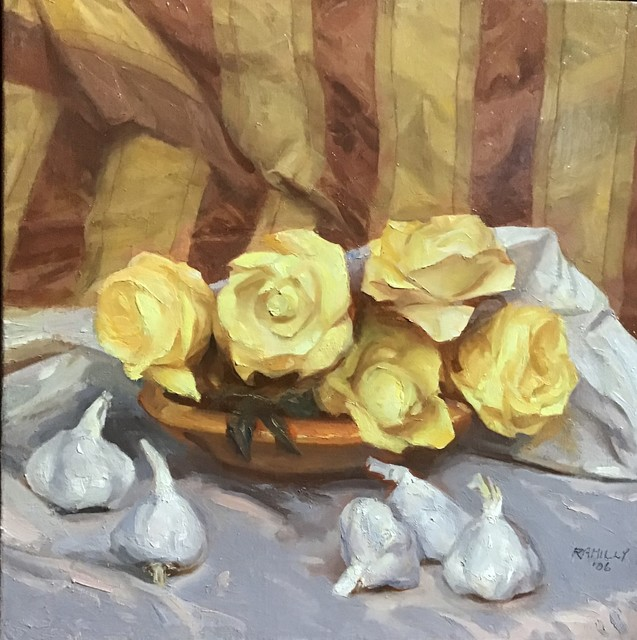 Paul Rahilly, 'Garlic and Roses', 2006, Painting, Oil on canvas, Gallery NAGA