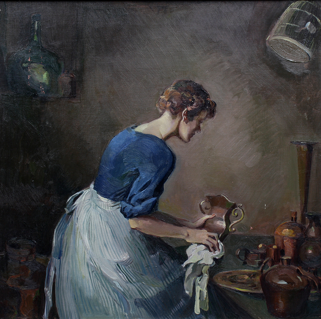 , 'Cleaning Copper,' ca. 1930, Benjaman Gallery Group