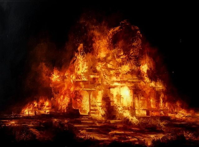 , 'Burning House (study 2),' 2017, OLSEN GALLERY