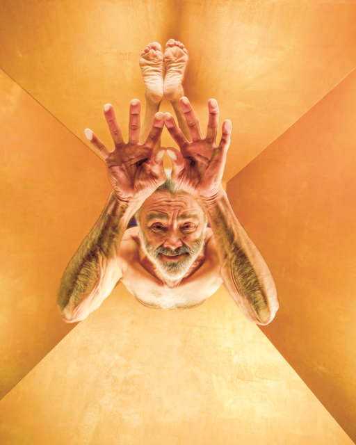 , 'Peacock Feather Pose, Sri Dharma Mittra,' 2007, TASCHEN