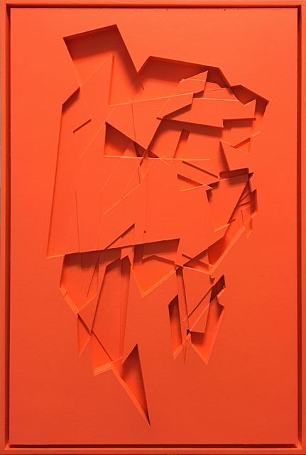, 'No Title / Fluorescent Orange,' 2017, Mirus Gallery