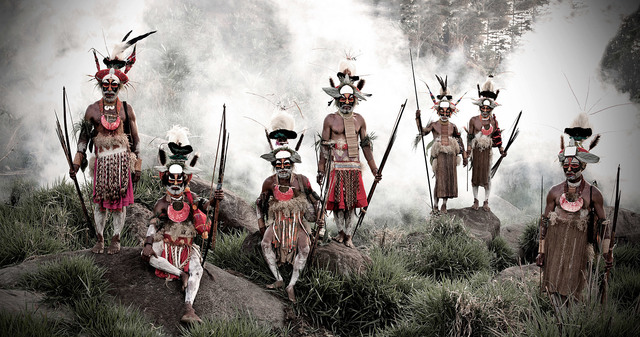 , 'Keke Kombea, Tande Mala, Lesbosi Kupu,  Mumburi Mupi, John Kundi, Menaja Koke, Likekaipia Tribe Ponowi Village, Jalibu Mountains, Western highlands, Papua New Guinea,' 2010, Rademakers Gallery
