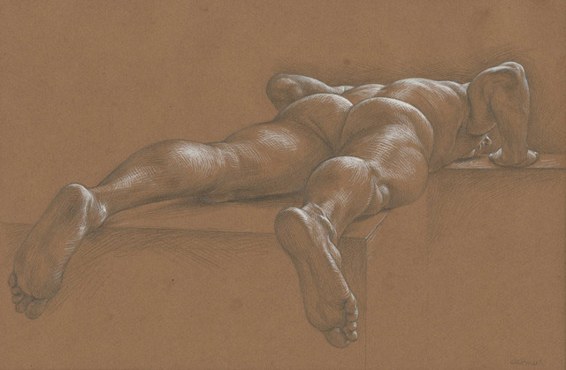 Paul Cadmus, 'Nude Male Reclining Face Down (TS3),' , Childs Gallery