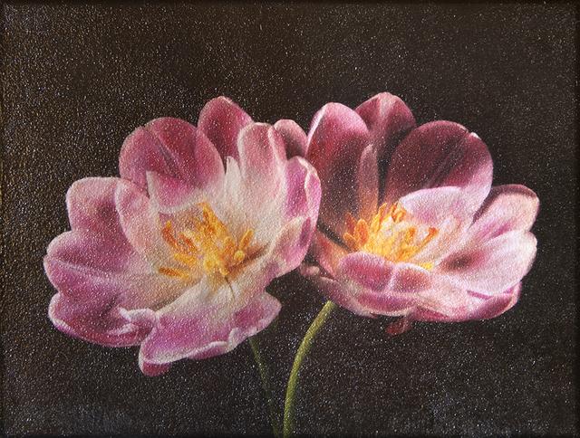 Maggie Hasbrouck, 'Pink Tulips', 2017, Painting, Photo-Encaustic, Bill Lowe Gallery