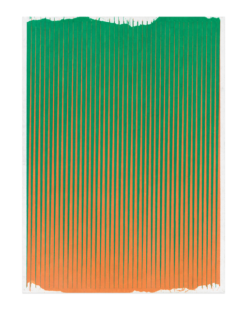, 'Lonely Planet (Grass Green / Mineral Orange),' 2016-2017, Gavlak