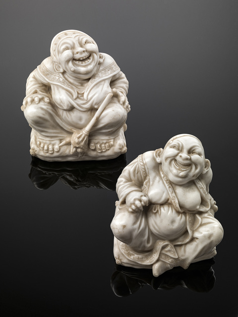 , 'PAIR OF CHINESE PAGODA FIGURES,' , Brun Fine Art