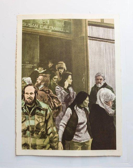 John Hardy, 'Soho Sunday (Susan Caldwell), Gallery Denizens, Signed Pop Art Lithograph', 20th Century, Lions Gallery