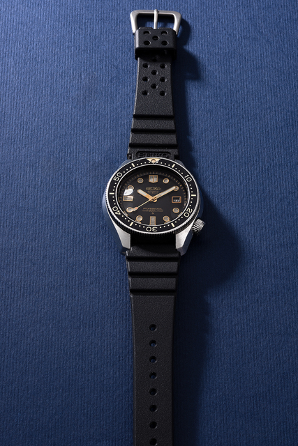 Seiko, 'A fine and rare stainless steel diver's wristwatch with date and sweep center seconds', Circa 1969, Phillips