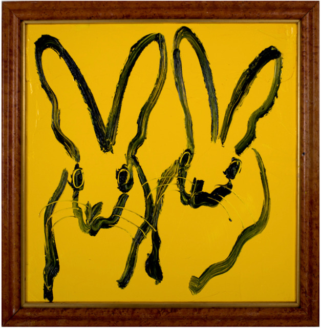 Hunt Slonem, 'Untitled, Bunnies on Tuscany Yellow', 2018, Painting, Oil on Canvas, Dawson Cole Fine Art