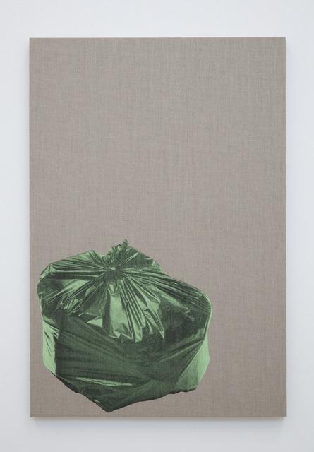 Gavin Turk, 'Bin Bag on Linen (Green)', 2018, Alex Daniels - Reflex Amsterdam