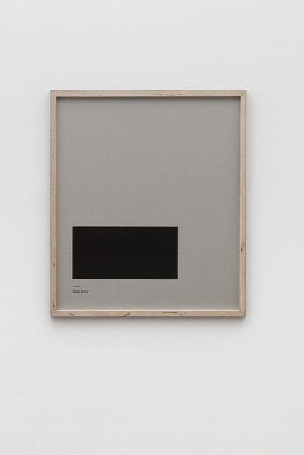 , 'Loop Holes (Yoshie Shiratori, 1944, Abashiri Prison, Hokkaido, Japan, hole measures 34 x 17 cm) ,' 2016, Galleri Nicolai Wallner