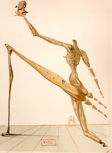 Salvador Dalí, 'Inferno Canto 28: Bertrand De Horn from The Divine Comedy', 1960, Print, Woodblock on paper, New River Fine Art