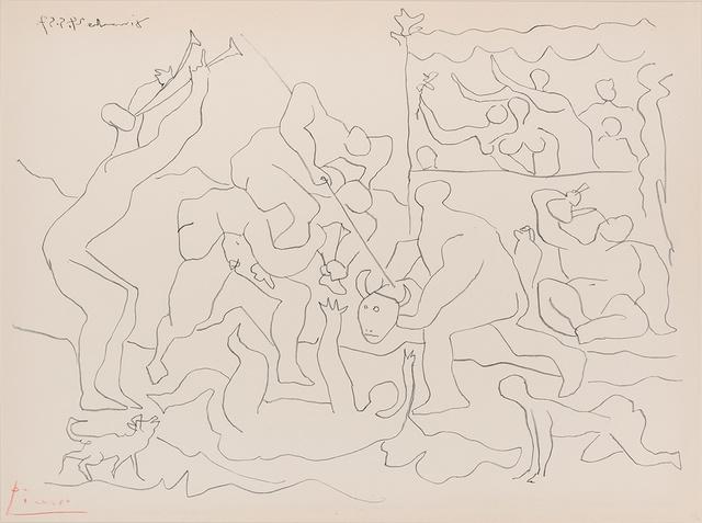 Pablo Picasso, 'Jeu De La Corrida (B. 832)', 1957, Print, Lithograph, on Arches paper, Doyle
