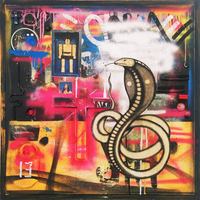 Carlos Ramirez (b. 1967), 'Naga', 2020, Painting, Various materials, MAIA Contemporary