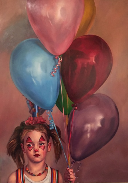 , 'Balloons with Nora,' 2017, M.A. Doran Gallery