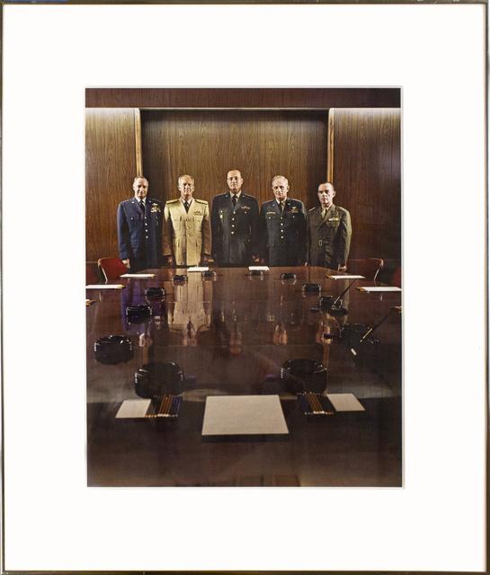 Evelyn Hofer, 'The Joint Chiefs- Washington DC', 1965, Photography, Vintage color dye transfer print, Goya Contemporary/Goya-Girl Press