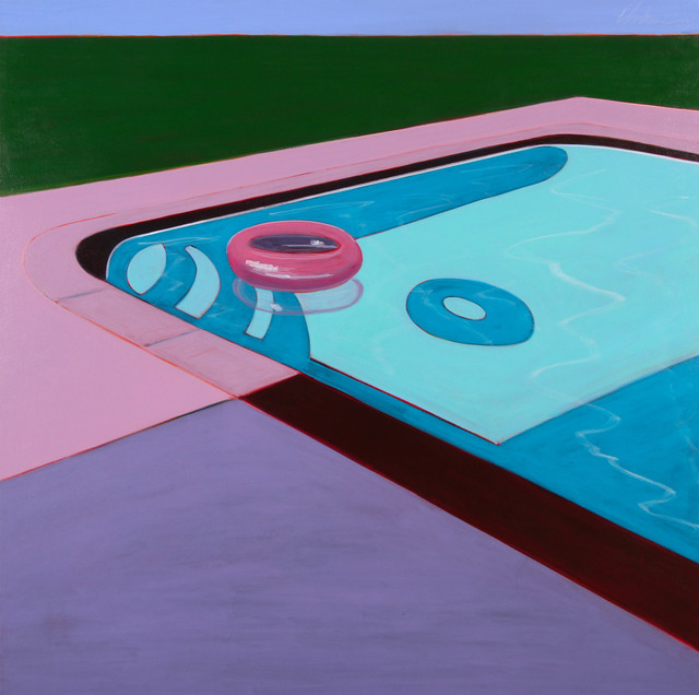 , 'Pink Floating Tube in Pool,' 2017, Caldwell Snyder Gallery