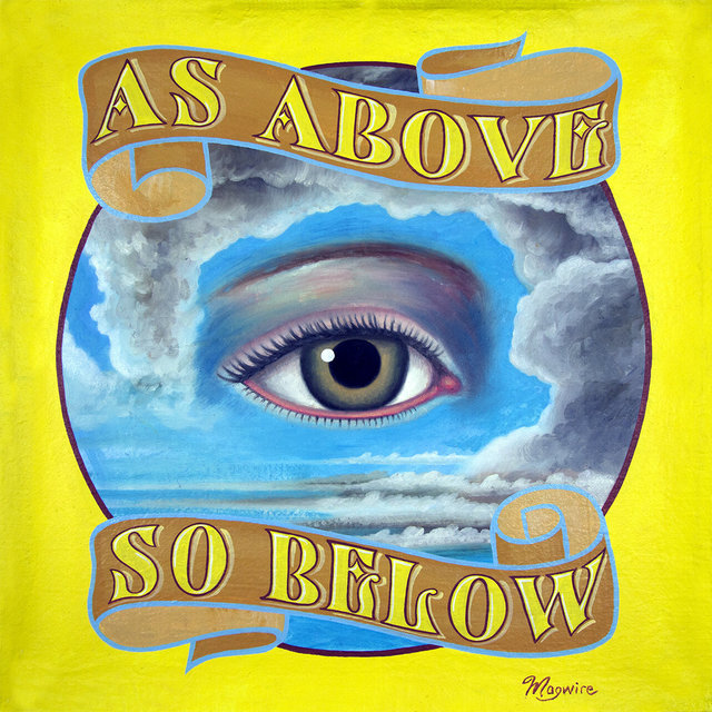 """molly mcguire, '""""As Above, So Below""""', ca. 2018, Painting, Acrylic on re-purposed canvas, Parlor Gallery"""