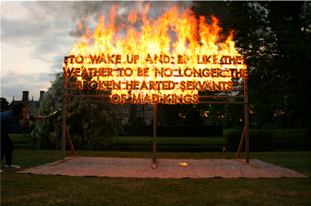 , 'Great Fosters Fire Poem,' 2011, Madison Gallery