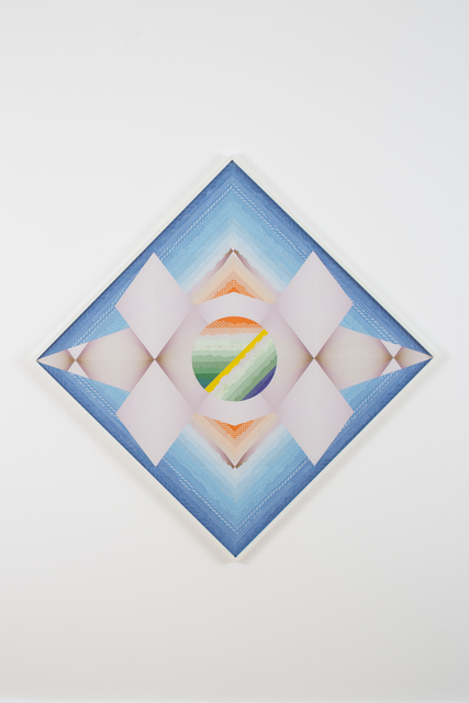 , 'Frequencies on the Horizon against the Celestial Blue – Trustworthy #264,' 2015, Barbara Wien