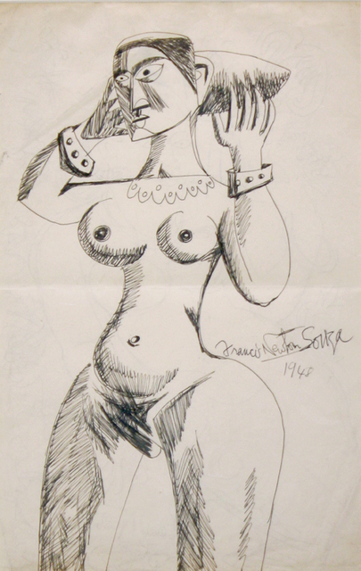 Francis Newton Souza, 'Untitled (Standing Nude with Bracelets 1)', 1948, Aicon Gallery