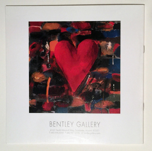 Jim Dine, 'Jim Dine Signed Art Catalog, Bentley Gallery Hearts, Free US Shipping', 2001, David Lawrence Gallery