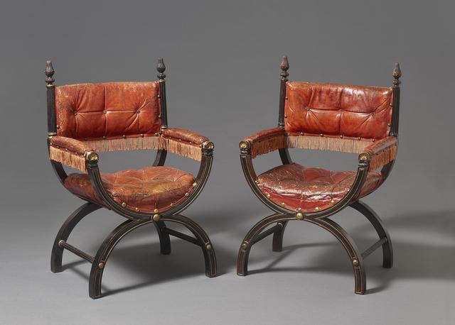, 'Pair of armchairs,' English circa 1827-44, H. Blairman & Sons Ltd