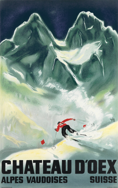 , 'Chateau D'Oex - Switzerland - Skiing,' 1933, Omnibus Gallery