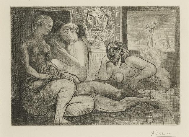 Pablo Picasso, 'Quatre femmes nues et tête sculptée (B. 219; Ba. 424)', 1934, Print, Etching, Sotheby's