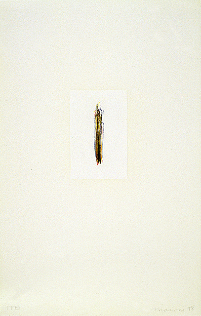 Tom Marioni, 'Finger Lines (Yellow)', 1998, Crown Point Press