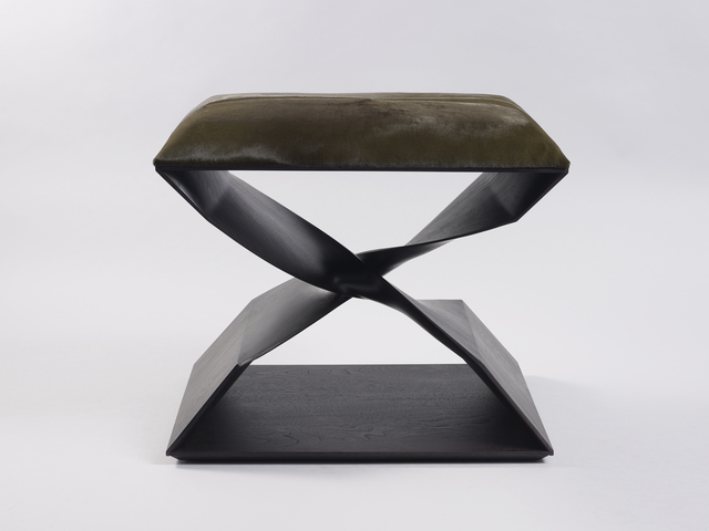 , 'Sculptural Twist Stool (Ebonized Sapele),' 2012, Galerie BSL