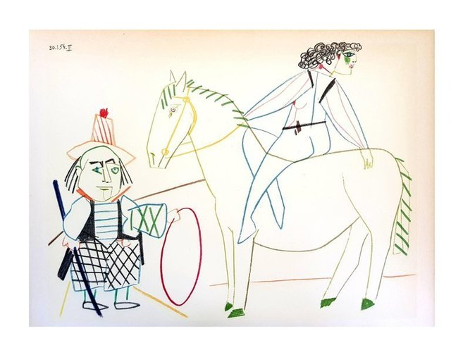 """Pablo Picasso, 'Lithograph """"Human Comedy IV"""" after Pablo Picasso', 1954, Galerie Philia"""