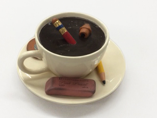 , 'cup with pencils and erasers,' 2017, Lois Lambert Gallery