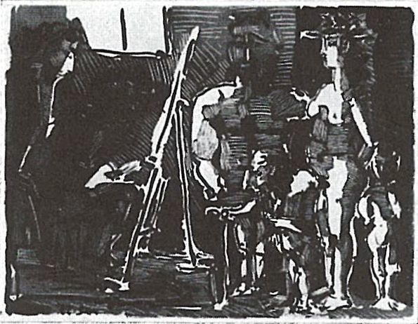 , 'Visiteurs divins à l'Atelier,' 1955, Galerie Thomas