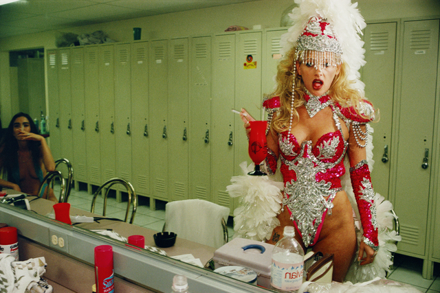 , 'Lauren Greenfield Exotic dancer Tammy, 25, backstage at Little Darlings, the largest fully nude strip club in the United States, Las Vegas,' 1995, Fahey/Klein Gallery