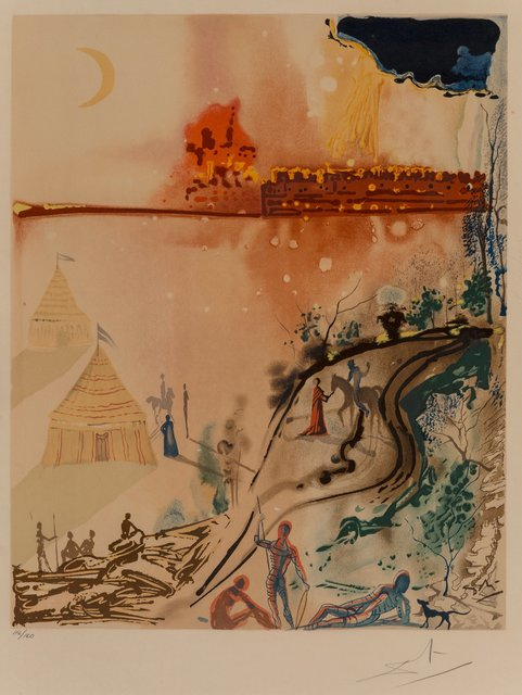 Salvador Dalí, 'The Crime, The Siege of Jerusalem, and A Miserable Flat, from The Marquis de Sade', 1969, Heritage Auctions