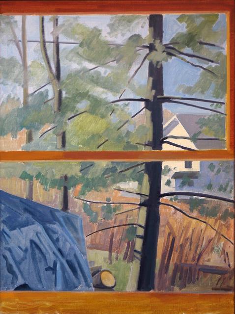 Richard Kirk Mills, 'Tarped Log Pile with Pines', 2019, Blue Mountain Gallery