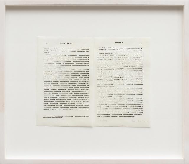 , 'Trascrizioni, In due,' 1975, Galerija Gregor Podnar