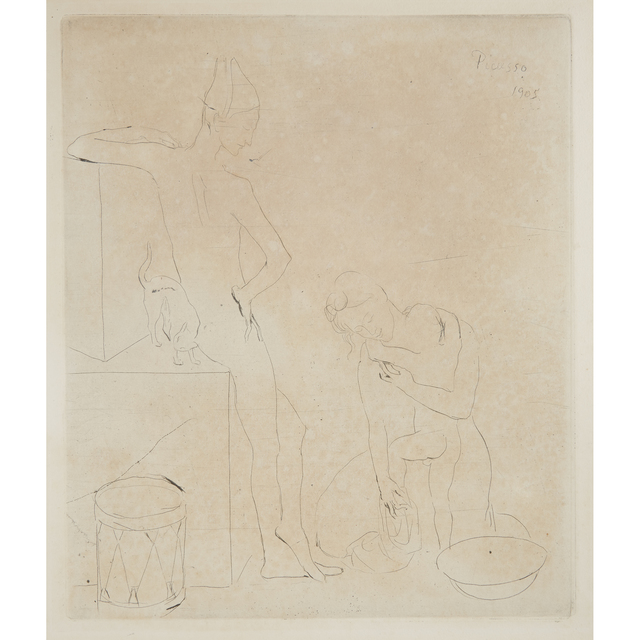 """Pablo Picasso, 'Le Bain From """"La Suite Des Saltimbanques""""', 1905 (printed in 1913), Print, Drypoint on wove paper, Freeman's"""