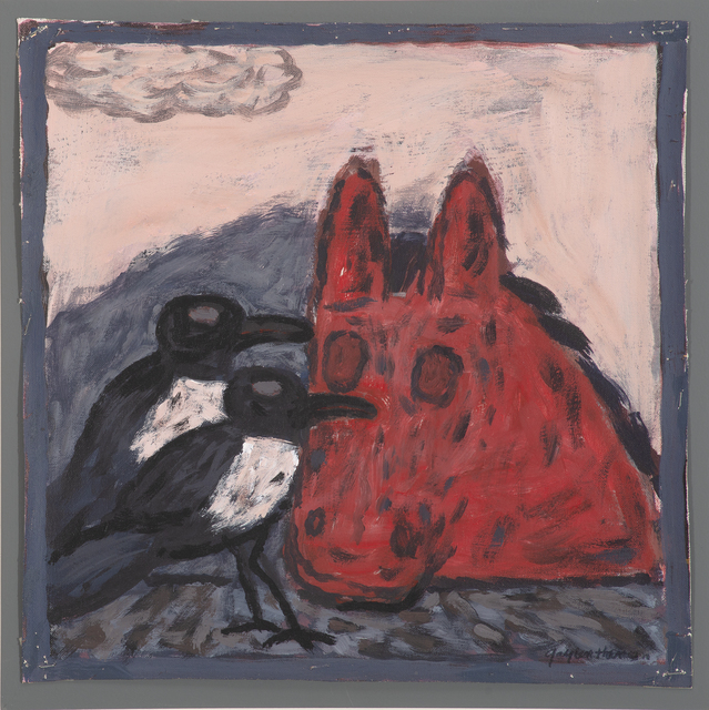 , 'Two Magpies with Red Horse,' , Stremmel Gallery