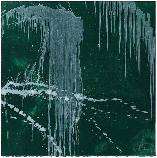 Pat Steir, 'Waterfall (green)', 1996, Jim Kempner Fine Art