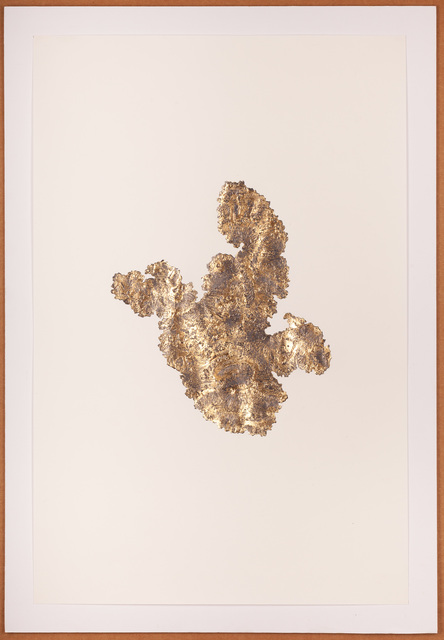 Santiago Reyes Villaveces, 'Fiebre de Tolima (Fresno) ', 2019, Drawing, Collage or other Work on Paper, Graphite, 24k gold and gold leaf on paper., Emerson Dorsch