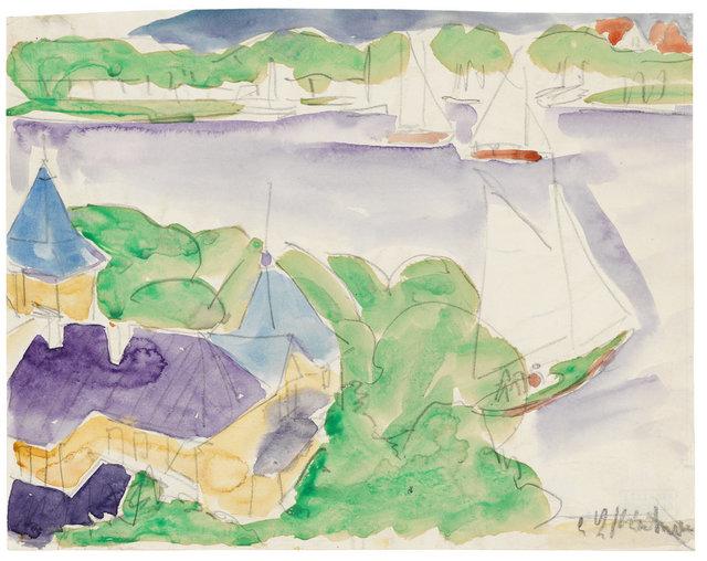 , 'Müggelsee (Segelboote),' ca. 1910, Ludorff
